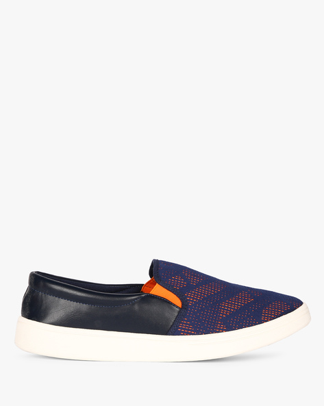 Slip-On Sneakers With Contrast Elasticated Gussets By Nuboy ( Navy )