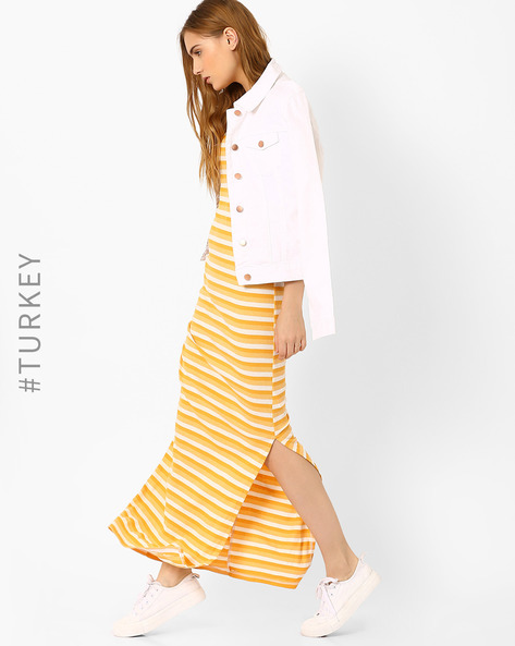Maxi Dress With Stripes By TIFFANY & TOMATO ( Yellow )