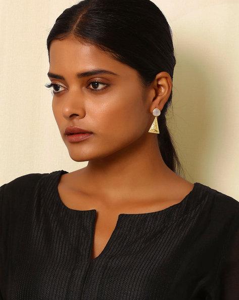 Gold-Plated Brass Drop-Earrings By Indie Picks ( Multi ) - 460045156001