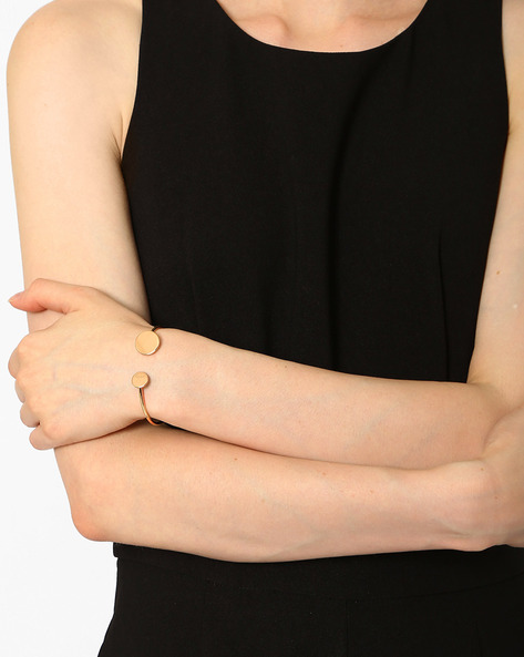 Partially Open Cuff Bracelet By Joker & Witch ( Gold )