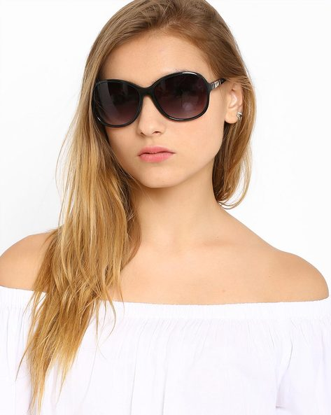 Oversized Sunglasses By Image ( Black ) - 460019279001