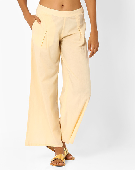 Palazzo Pants By AJIO ( Offwhite )