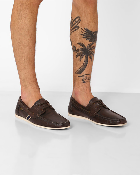 Genuine Leather Derby Casual Shoes By RED TAPE ( Brown )