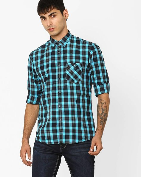 Slim Fit Checked Shirt By Killer ( Assorted ) - 440722830002