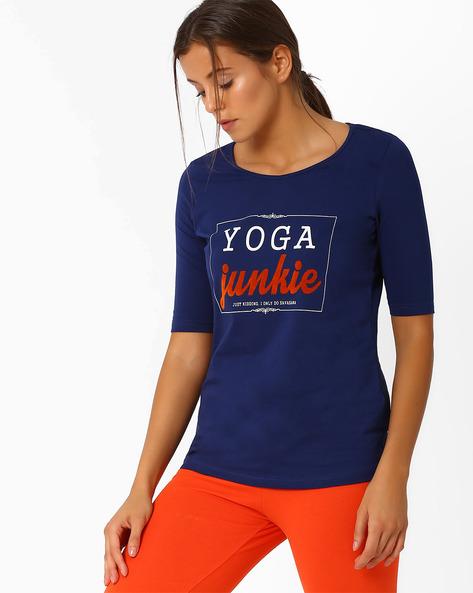 Graphic Print T-shirt By AJIO ( Navyblue ) - 460015531009