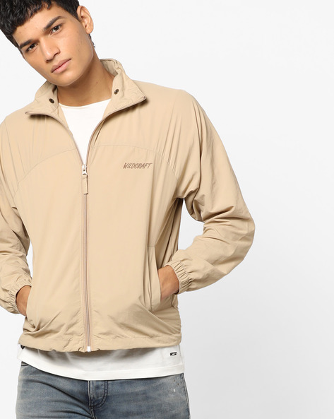 Front-Zip Jacket With Pockets By Wildcraft ( Beige )
