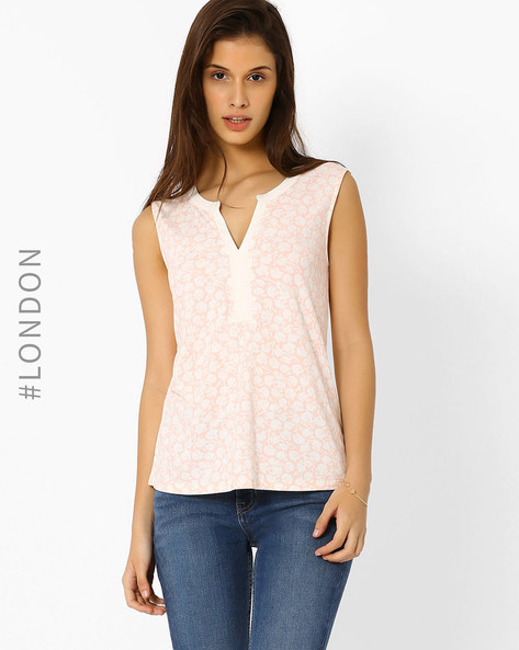 Floral Print Top By Marks & Spencer ( Pink )