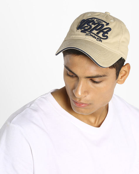 Baseball Cap With Embroidered Branding By US POLO ( Khaki )