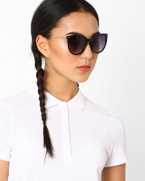 Polarised Cat-Eye Sunglasses By Macv ( Black ) - 460035839002