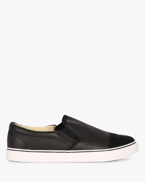Panelled Slip-On Shoes By BRAVE SOUL ( Black )