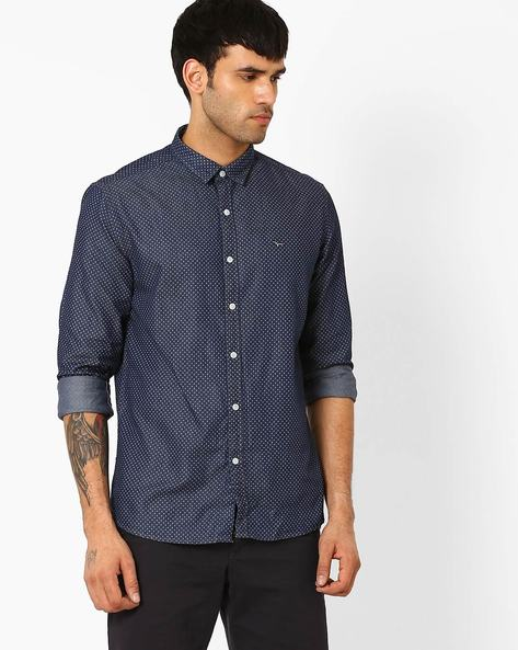 Geometric Print Casual Shirt By FLYING MACHINE ( Assorted )