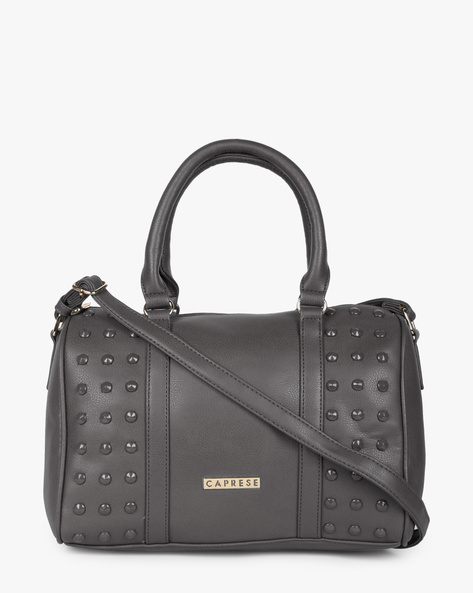 Embellished Textured Sling Bag By CAPRESE ( Charcoal )