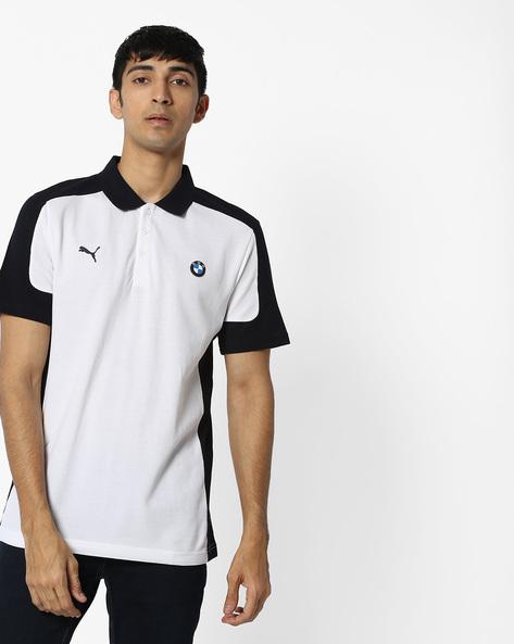 BMW Print Polo T-shirt By Puma ( White )