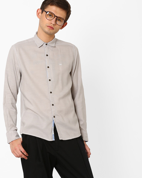 Classic Slim Fit Shirt By Lee ( Grey )