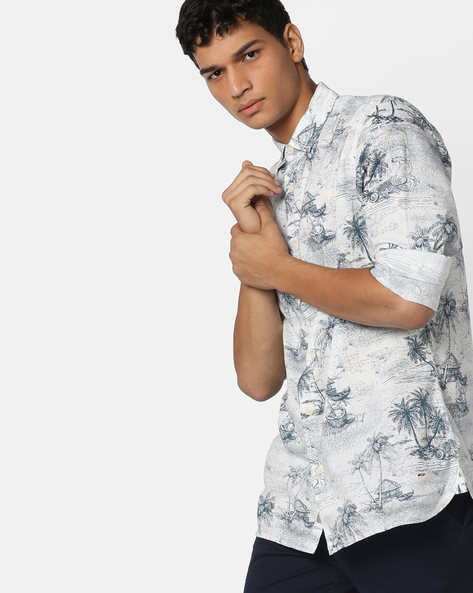 Tropical Print Slim Fit Shirt By Jack & Jones ( Assorted )