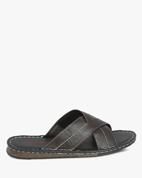 Sandals With Criss-Cross Straps By DMI ( Brown )