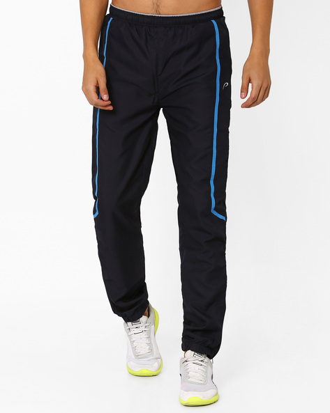 Woven Track Pants With Zip Detail By PROLINE ( Navy )