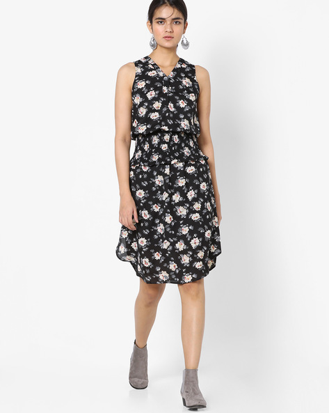 Floral Print Blouson Dress By Oxolloxo ( Multi )