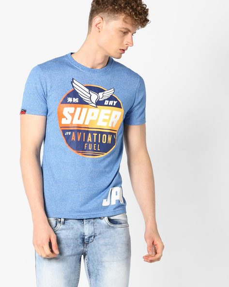 Aviation Entry Crew-Neck T-shirt By SUPERDRY ( Qyg )