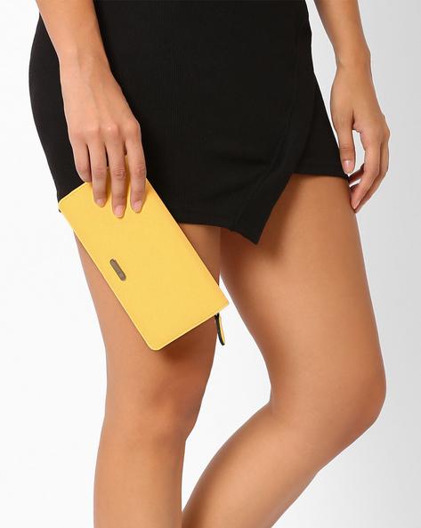 Zip-Around Wallet By Lavie ( Yellow )