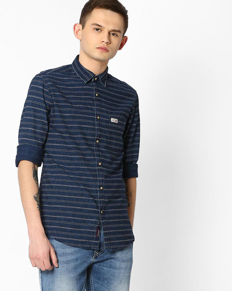 Striped Cotton Shirt By US POLO ( Assorted )