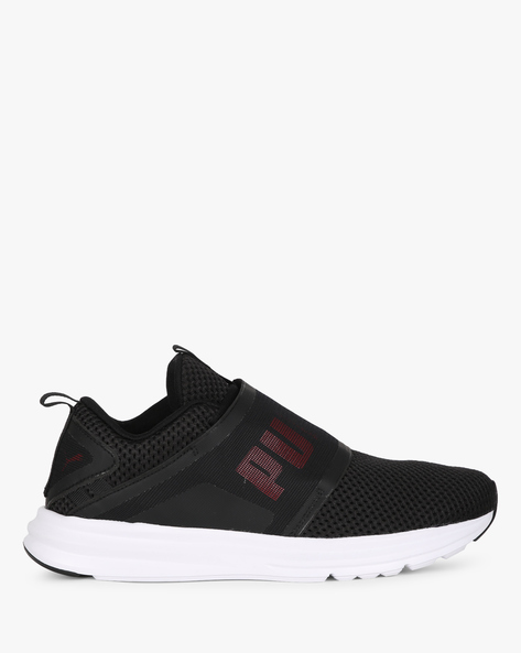 Enzo Strap Mesh Sports Shoes By Puma ( Black )