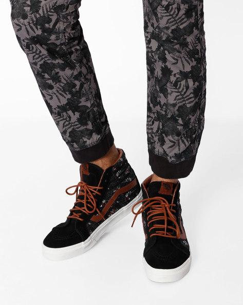 Sk8-Hi Reissue High-Top Leather Sneakers By Vans ( Black )
