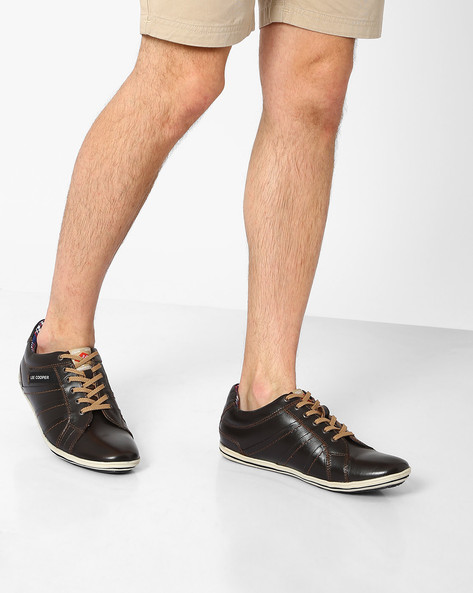 Genuine Leather Lace-Ups By Lee Cooper ( Brown )