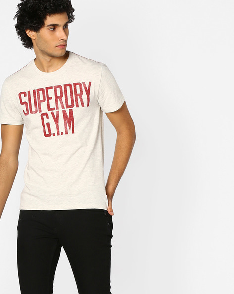 Printed Crew-Neck T-shirt By SUPERDRY ( 10c )