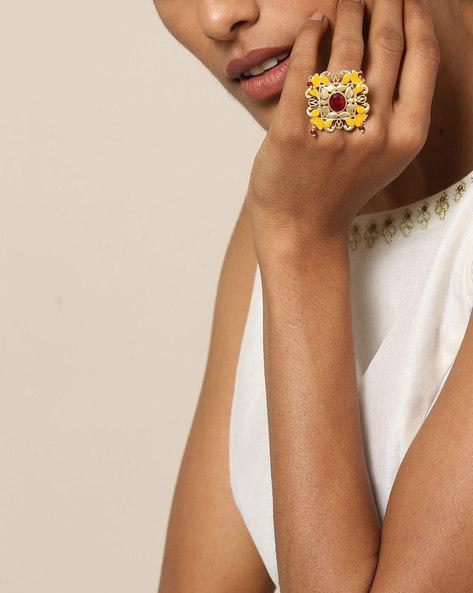 Matte Finish Brass Ring By Indie Picks ( Multi ) - 460161686001