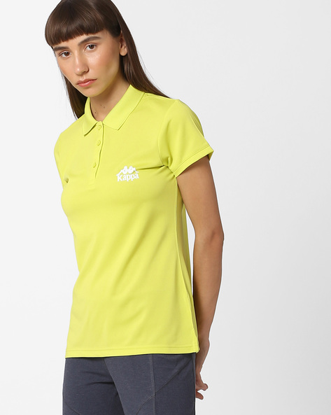 Polo T-shirt With Signature Branding By KAPPA ( Green )