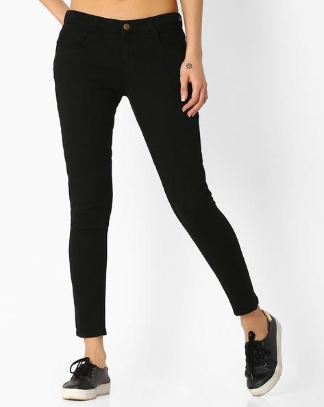 Skinny Jeans With Belt Loops By BOSSINI ( Black )