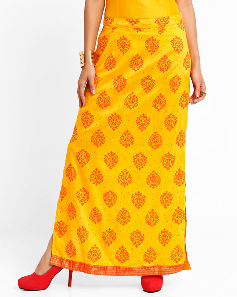 Printed Maxi Skirt By AJIO ( Yellow )