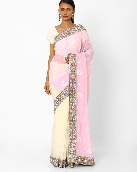 Designer Georgette Saree By RCPC ( Pink )