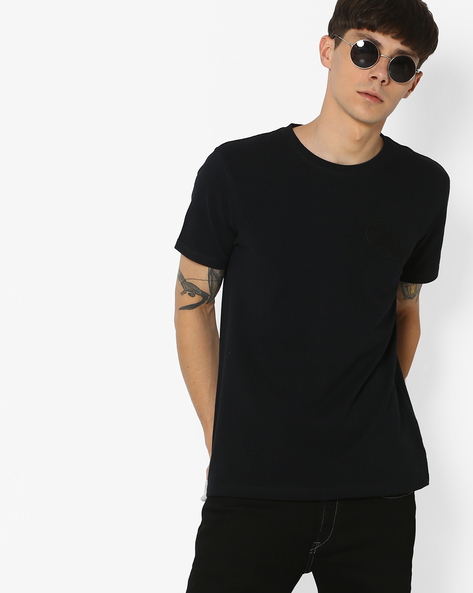 Crew-Neck T-shirt With Short Sleeves By WRANGLER ( Black )