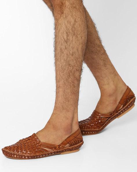 Huarache Leather Slip-On Shoes By Estd.1977 ( Tan )
