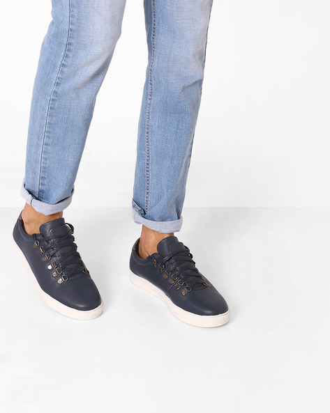 Textured Casual Shoes By Carlton London ( Navy )