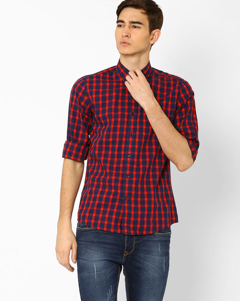Classic Yarn Dyed Checked Shirt By WRANGLER ( Red )