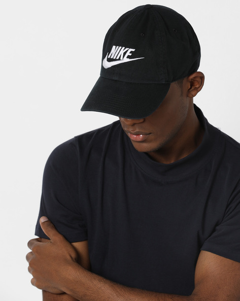 Baseball Cap With Embroidered Branding By NIKE ( Black ) - 460136891001