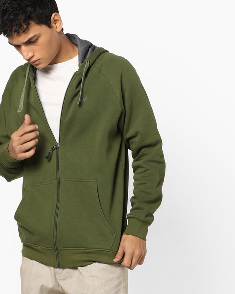 Zuci Hooded Sweatshirt With Front Zipper By Wildcraft ( Olive )