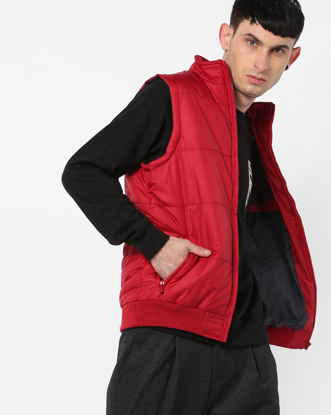 Sleeveless Quilted Jacket By Pepe Jeans ( Red )