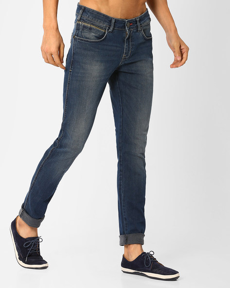 Low-Rise Skinny Jeans By WRANGLER ( Blue )