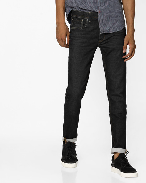 Lightly Washed Skinny Jeans By VOI JEANS ( Black )