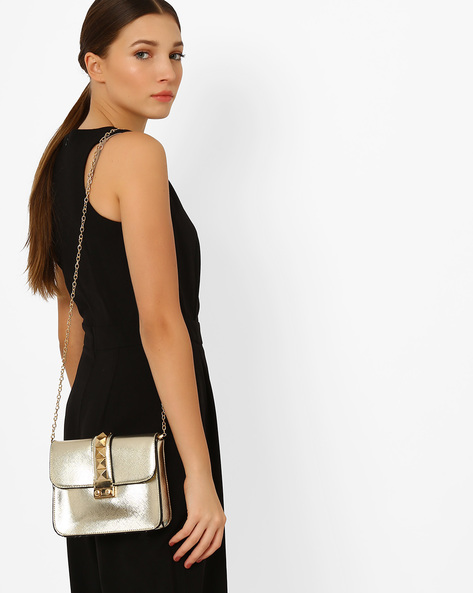 Shimmery Sling Bag By Carlton London ( Gold )