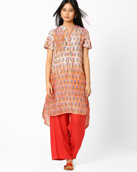 Printed Tunic With High-Low Hem By Global Desi ( Multi )