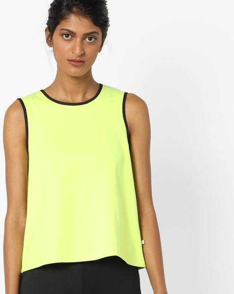 Sleeveless Top With Cut-Outs By UNITED COLORS OF BENETTON ( Yellow )