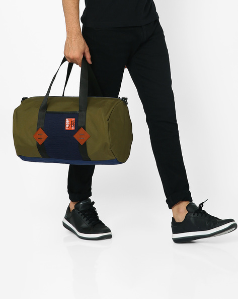 Hoppipolla Canvas Duffle Bag By Atorse ( Olive )