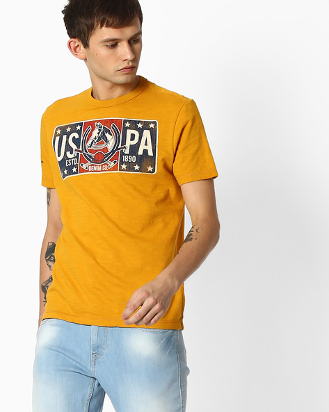 Crew-Neck T-shirt With Graphic Print By US POLO ( Assorted )