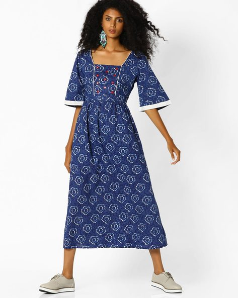 c47ed94c94 54% OFF on Printed Maxi Dress on Ajio.com | PaisaWapas.com