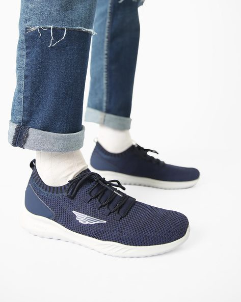 Low-Top Lace-Up Sports Shoes By RED TAPE ( Navyblue )
